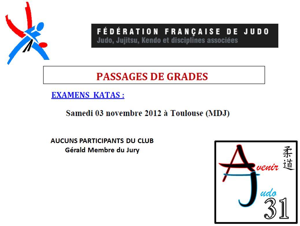 Résultat Passage de Grades Examen Katas 03 11 2012