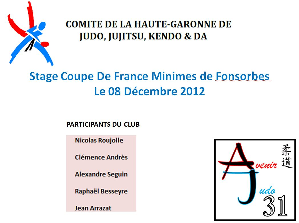 Stage Coupe de France Fonsorbes