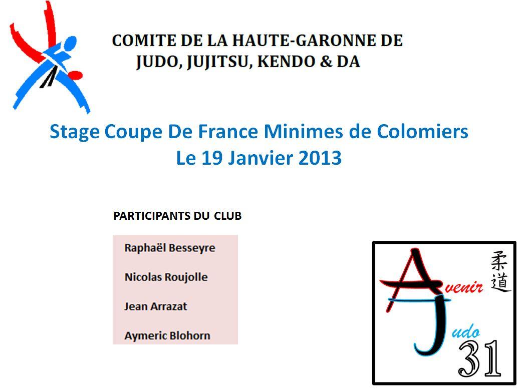Stage Coupe de France Minimes Colomiers
